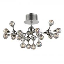 ELK Lighting 30026/18 - Molecular 18-Light Semi Flush in Polished Chrome with Rainbow Glass