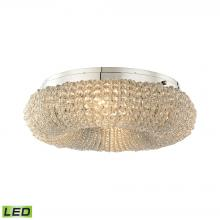 ELK Lighting 45290/4-LED - Crystal Ring 4-Light Semi Flush in Chrome with Clear Crystal Beads - Includes LED Bulbs